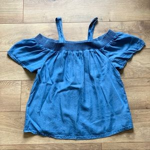 Gap Denim Babydoll Removable Strap Top 🌸